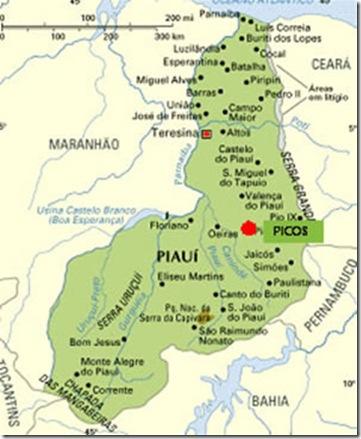 Mapa do Piauí