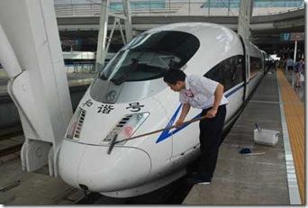 Trem rápido que liga Beijing a Tianjin