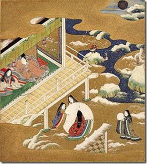 Ilustração do cap. 20, atribuída a Tosa Mitsuoki (1617-1691)