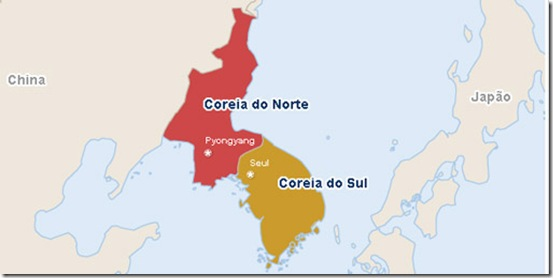 coreia do sul e do norte