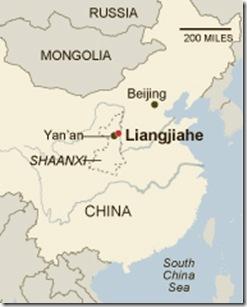 mapa da vila de xi
