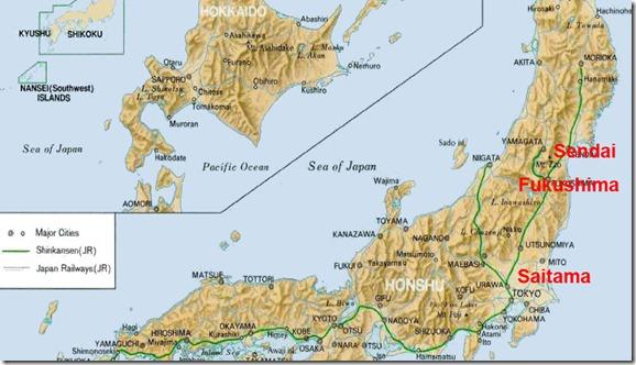 mapa japão