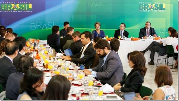 Brasília - DF, 22/12/2014. Presidenta Dilma Rousseff durante café da manhã com jornalistas-setoristas do Palácio do Planalto. Foto: Roberto Stuckert Filho/PR.