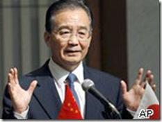 Premiê chinês Wen Jinbao