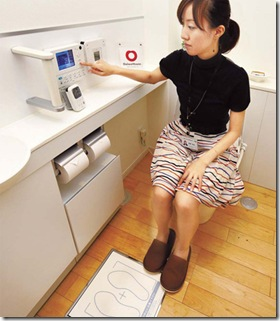 Toilet inteligente, fabricado pela Toto. Foto publicada no China Daily