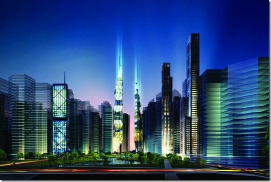 Vista da cidade de Tianjin