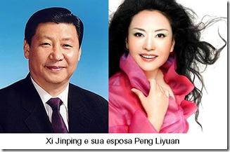 Xi Jinping e esposa