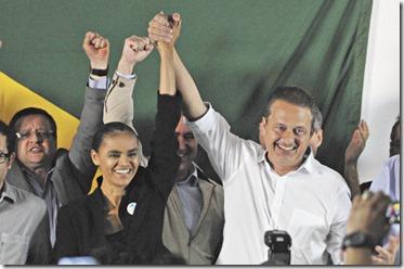 05/10/2013. Crédito: Breno Fortes/CB/D.A Press. Brasil. Brasília - DF. - A ex-senadora Marina Silva durante sua filiação ao PSB, e concorrerá à presidência da República, em 2014, ao lado do governador de Pernambuco, Eduardo Campos, em entrevista coletiva no Hotel Nacional.