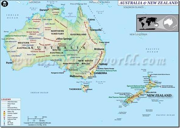 mapa australia e nova zelandia Nova Zelândia é um País que Está Muito Bem no Momento » Asia comentada mapa australia e nova zelandia